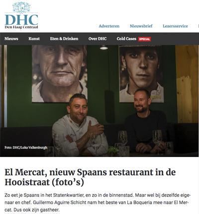 El Mercat, new Spanish restaurant at the Hooistraat